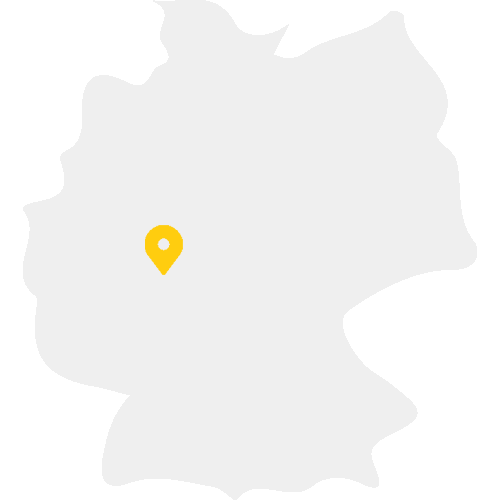 Deuschlandkarte mit einem Standort