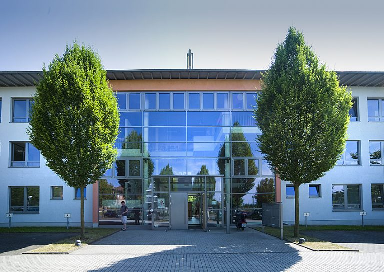 Glas Fassade des Büro Gebäudes der TIG in Gießen
