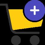 Eine Warenkorb Icon