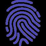 Ein Fingerabdruck Icon