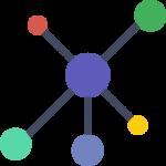 Vernetzte Punkte Icon
