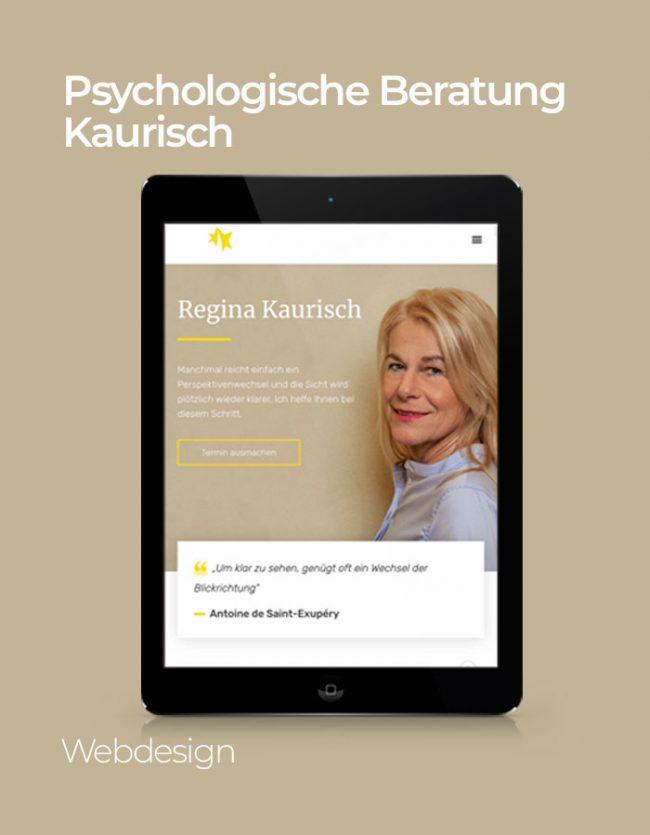 Kaurisch Website Referenz mit Hintergrund